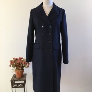 Land's End Canvas Wool Double Breasted Long Coat 6